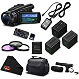 Sony FDR-AX700 4K HDR Camcorder w/3.5 Inch LCD (FDR-AX700/B) Advanced Bundle- International Version (No Warranty)