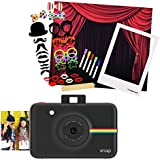 Polaroid SNAP Instant Camera (Black) + Polaroid All-In-One Photo Booth Kit – Includes Backdrop, Fun Photo Props & Polaroid-Styled Frame – Perfect for Parties, Family Affairs & Corporate Events