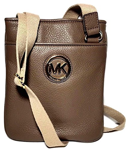 Price comparison product image Michael Kors Mk Fulton Leather Crossbody Bag Messenger in Dark Dune