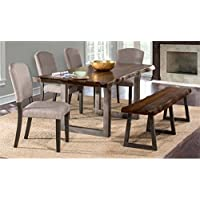 Atlin Designs 6 Piece Dining Set in Gray Sheesham