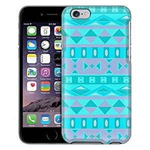Apple iPhone 6 Case, Snap On Cover by Trek Blue Zebra Print on Nebula Case