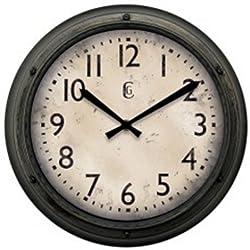 Geneva Clock Plastic Wall Clock, 12-Inch