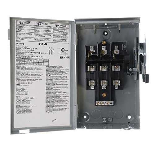 Eaton Cutler-Hammer DG321NRB Fusible Safety Switch, NEMA-3R, 30A, 240V, 4-Wire by Cutler & Hammer (Image #2)