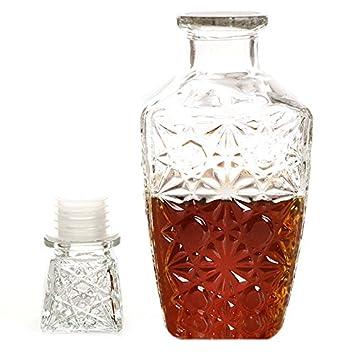 Gosear 1000ML Botella de Cristal Vidrio Decantador con Tapón de Tapa para Whisky Licores Vino Cerveza Agua Potable Beber Barra Hogar: Amazon.es: Hogar