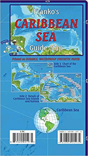 Caribbean Sea Guide Franko Maps Waterproof Map: Franko Maps Ltd ...