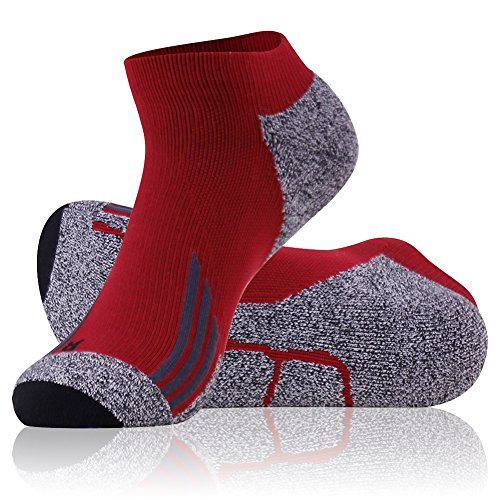 Ankle Cycling Socks Men, LANUDNCIGIA Summer High Performance Compression Arch Support Cushion Running Tennis Cycling Golf Racing Marathon Socks Sports Joggers Socks Father's Day Gift,Red