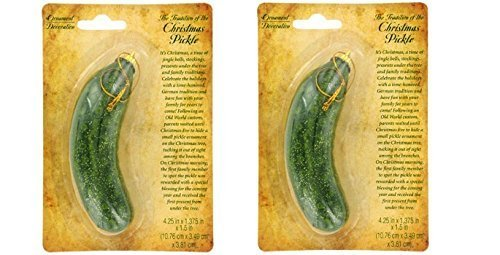 Christmas Pickle on Card-Includes Christmas Pickle Story Set of 2 by Greenbrier (Pickle Tree Christmas Of On Tradition)
