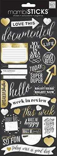 me & my BIG ideas Love This Gold Foil Chalk Sticker