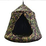 TopEva Waterproof Hanging Tree&Ceiling Hammock Tent Kids Sky Castle Paradise with LED Decoration Lights (Camouflage)