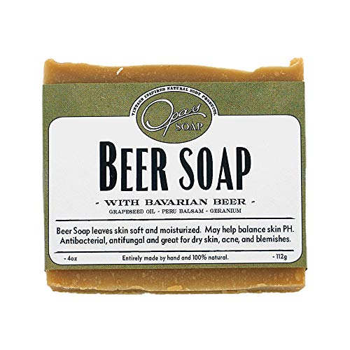 Dark Ale Beer Soap that Smells AMAZING made with Dark Ale German Beer - USA MADE Great Gift For Beer Lovers!