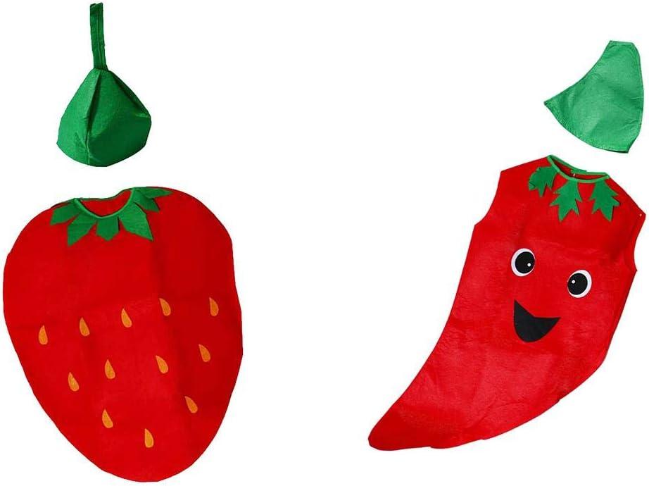 FLAMEER 2 Juegos Disfraz de Vegetales de Frutas con Sombreros para ...
