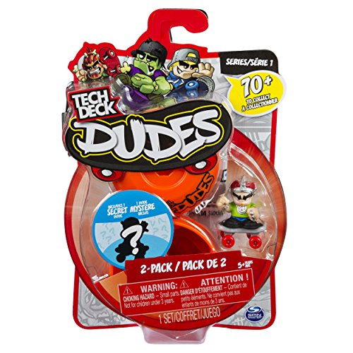 (Tech Deck Dudes - 2-Pack Collectible Skater Figures with Boards)