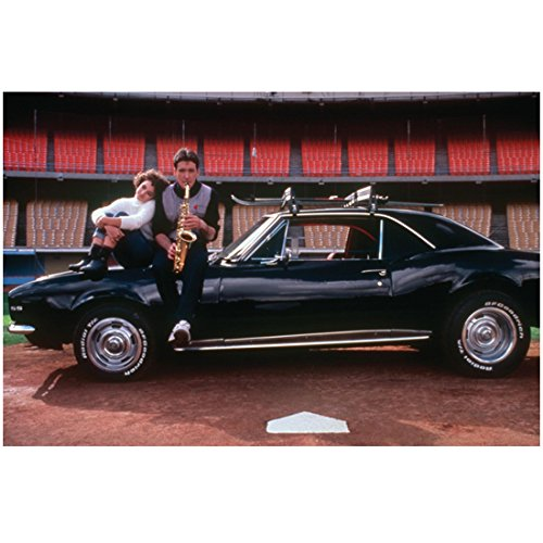 Better Off Dead (1985) 8 inch by 10 inch PHOTOGRAPH John Cusack & Diane Franklin Full Body Sitting on Hood of Car kn