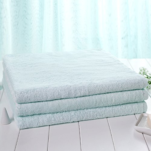 Sproud Cotton Bath Towel Cotton Adult Men And Women Children With Thick And Soft Towel,Light Blue