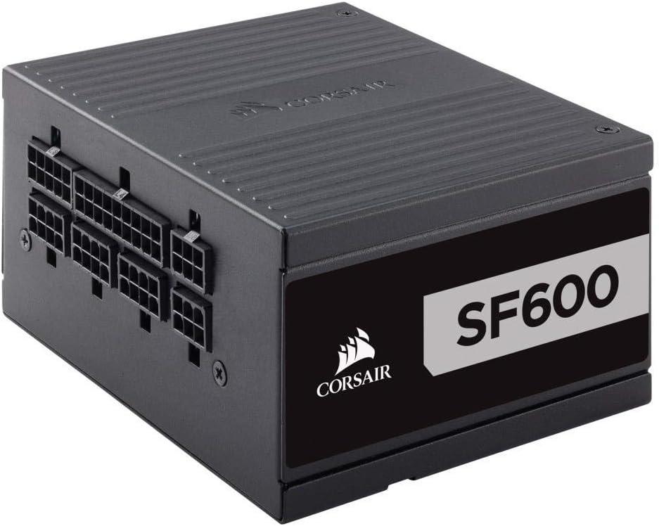 Corsair SF600 - Fuente de alimentación (Completamente Modular, 80 Plus Platinum, 600 W, EU)