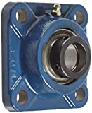 SKF FY 1. FM Ball Bearing Flange Unit, 4 Bolts, Eccentric Collar, Regreasable, Contact Seal, Cast Iron, Inch, 1