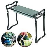 ZevenMart Folding Stainless Steel Garden Kneeler Stool EVA Cushion Seat Portable Tool Gardening