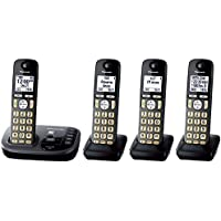 Panasonic KX-TGD224M Cordless Phone with Answering Machine- 4 Handsets (Certified Refurbished) (KX-TGD224N METALLIC GREY)