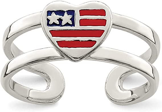 Sterling Silver Enameled Toe Ring Solid 6 mm Toe Rings Jewelry