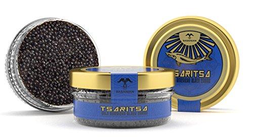 (LIMITED TIME OFFER! Caspian Tradition RUSSIAN Style TSARITSA FRESH Salmon & Bowfin Malossol CAVIAR 2 x 4oz jars)