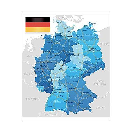 Amazon.com: Media Storehouse 20x16 Print of Germany - Road map ...