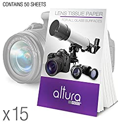 (750 Sheets 15 Booklets) - Altura Photo Lens Cleaning Tissue Paper + Magicfiber Microfiber Cleaning Cloth