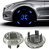 [4 Pack] Eximtade Car Wheel Tire LED Light Solar Energy Flashlight Decoration Lamp