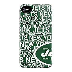 Shock Absorbent Hard Phone Cases For Iphone 4/4s (HuR10126rneh) Provide Private Custom Stylish New York Jets Pictures
