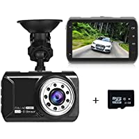 Dash Cam,3.0 Full HD 1080P 170 Wide Angle Car Dashboard Camera,Built- in Microphone Vehicle Videos Recorder with IR night vision, G-Sensor, Motion Detection, Loop Recording + 16GB Card