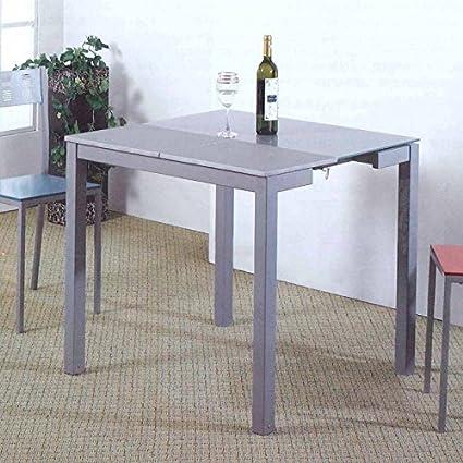 Mesa cocina extensible color gris: Amazon.es: Hogar