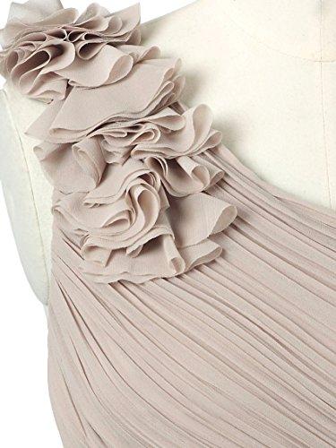Ever Pretty 08237 - Vestido largo de noche para mujer, asimétrico, con forro Mushroom