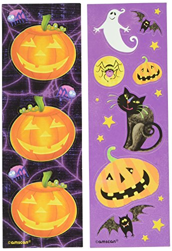 Amscan Family Friendly Halloween Fun Printed Sticker (8 Pack), 6