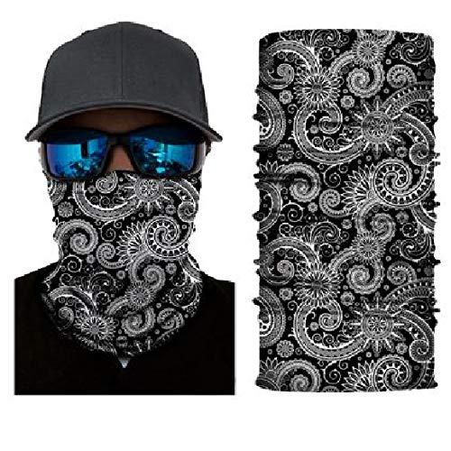 Black Paisley Bandana Face Neck Gaiter Mask