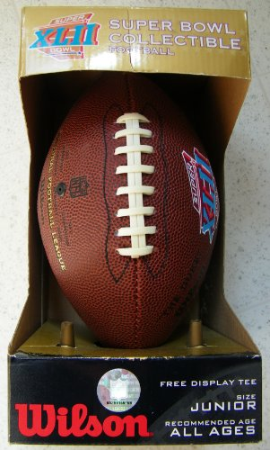 - Super Bowl XLII Collectible Football Junior Size