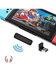 GuliKit Route Air Bluetooth Adapter for Nintendo Switch/Switch Lite, PC, Dual Stream Bluetooth Wireless Audio Transmitter with aptX Low Latency Connect Your AirPods Bluetooth Speakers Headphones