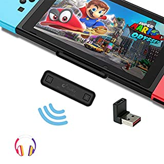 GuliKit Route Air Bluetooth Adapter for Nintendo Switch/ Switch Lite, Dual Stream Bluetooth Wireless Audio Transmitter with aptX Low Latency Connect Your Bluetooth Speakers Headphones - Black