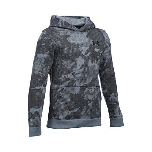 Under Armour Boys' Titan Fleece Printed Hoodie, Steel/Black, Youth Medium