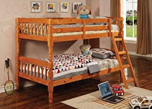 Amazon.com: Seattle Twin/Twin Bunk Bed in Pine: Kitchen & Dining