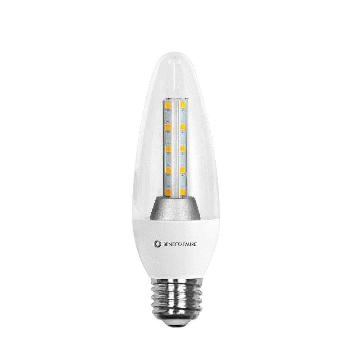 LÁMPARA LED NUK FLAMA BENEITO FAURE TRANSPARENT 8, E14, 2700 K: Amazon.es: Iluminación