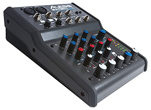 Alesis MultiMix 4 USB FX | Four-Channel USB Audio Mixer with Integrated DSP Effects (Alesis Audio Mixer)