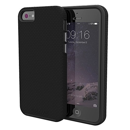 Crave iPhone SE Case, Dual Guard Protection Series Case for iPhone 5 / 5s / SE - Black