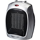 AmazonBasics 1500 Watt Ceramic Space Heater with Adjustable Thermostat - Silver