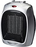 #1: AmazonBasics 1500 Watt Ceramic Space Heater with Adjustable Thermostat - Silver
