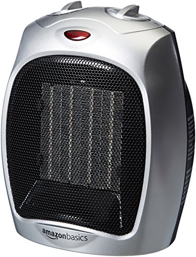 AmazonBasics 1500 Watt Ceramic Space Heater with...