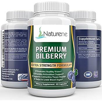 Naturene Premium Bilberry, 1000mg, 60 caps - Healthy Eyesight - Premium Formula