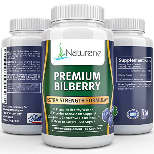 Naturene Premium Bilberry, 1000mg, 60 caps – Healthy Eyesight – Premium Formula Review