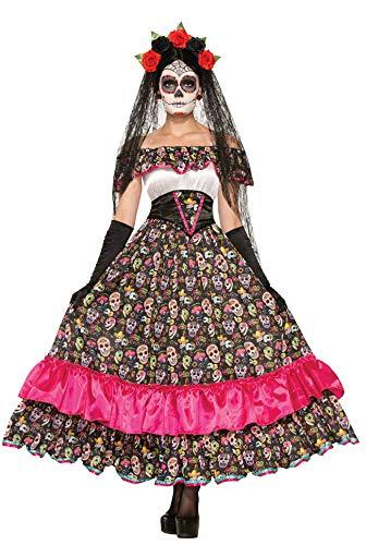 Simmia Halloween Costumes Halloween Skull Dress Black and White Striped Magician Tuxedo Ghost Bride Zombie Vampire, 74798, U -