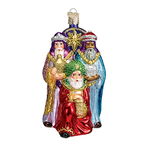 Old World Christmas Three Wise Men Glass Blown Ornament