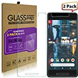[2-Pack]Google Pixel 2 Tempered Glass Screen Protector, ZeKing 0.33mm 2.5D Edge 9H Hardness [Anti Scratch][Anti-Fingerprint] Bubble Free for Google Pixel 2, Not fit for Google Pixel