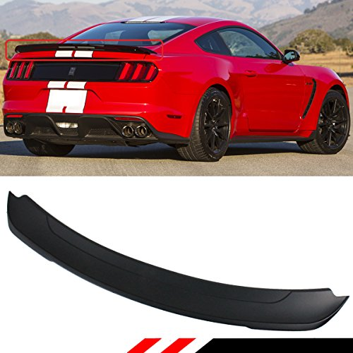 Cuztom Tuning For 2015-2017 Ford Mustang S550 GT Track Pack Style ABS Matt Black Trunk Spoiler Wing